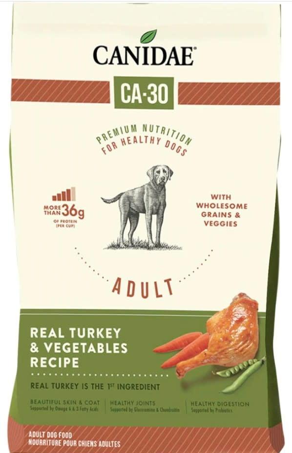 CANIDAE CA-30 RECIPE DOG FOOD TURKEY & VEGS 7lb