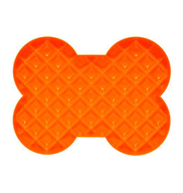 HYPER PET SLODOG ORANGE BONE SHAPE SLOW FEEDER