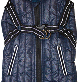 M - FASHION PET Harness Coat Navy