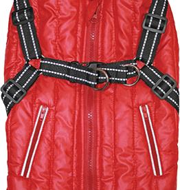 M - FASHION PET Harness Coat Red