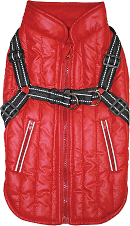 M - FASHION PET Harness Coat Red