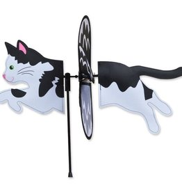 Petite Spinner-Black & White Cat
