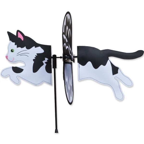 Petite Spinner-Black & White Cat