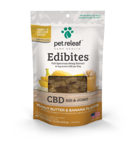 PET RELEAF 7.5 OZ DOG EDIBITES HEMP HIP & JOINT CHEW