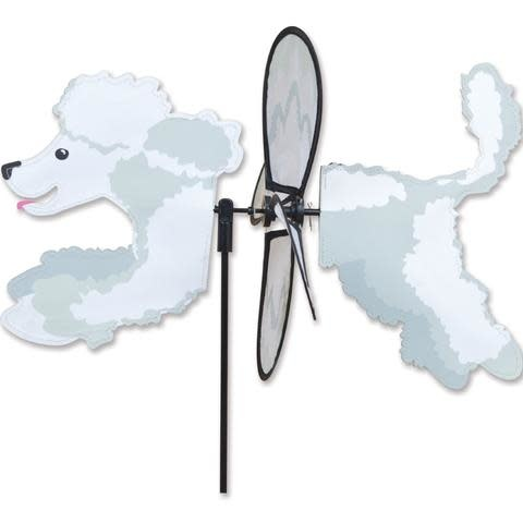 Petite Spinner-Poodle  White