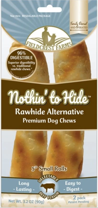 "5""  Nothin to Hide Beef Chews Dog Treats, 2 Pack"