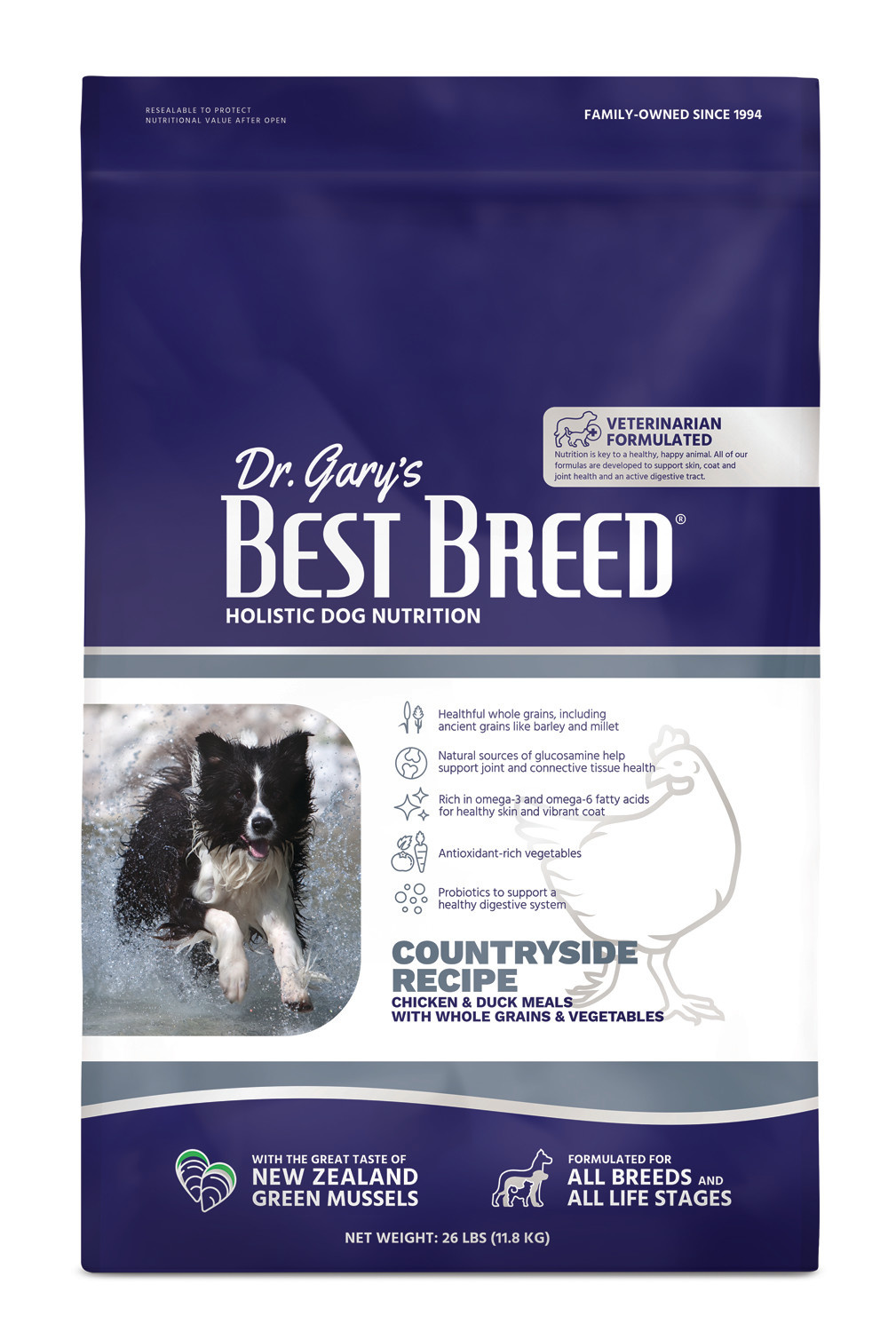 Dr. Gary's Best Breed Dr. Gary's Best Breed  Countryside Recipe (Chicken with Vegetables and Herbs)-26 lbs