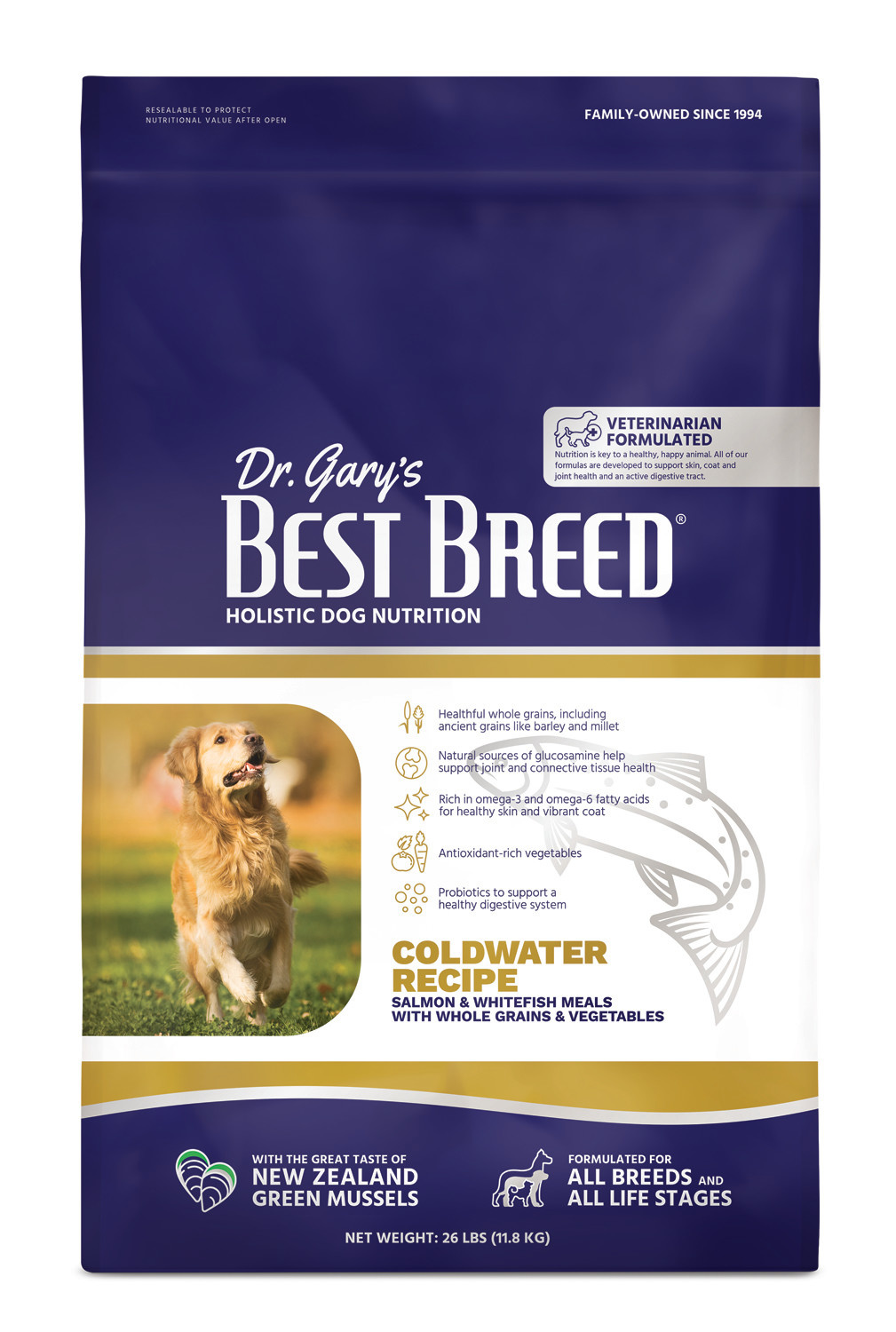 Dr. Gary's Best Breed Dr. Gary's Best Breed  Coldwater Recipe (Salmon with Vegetables and Herbs)-26 Lbs