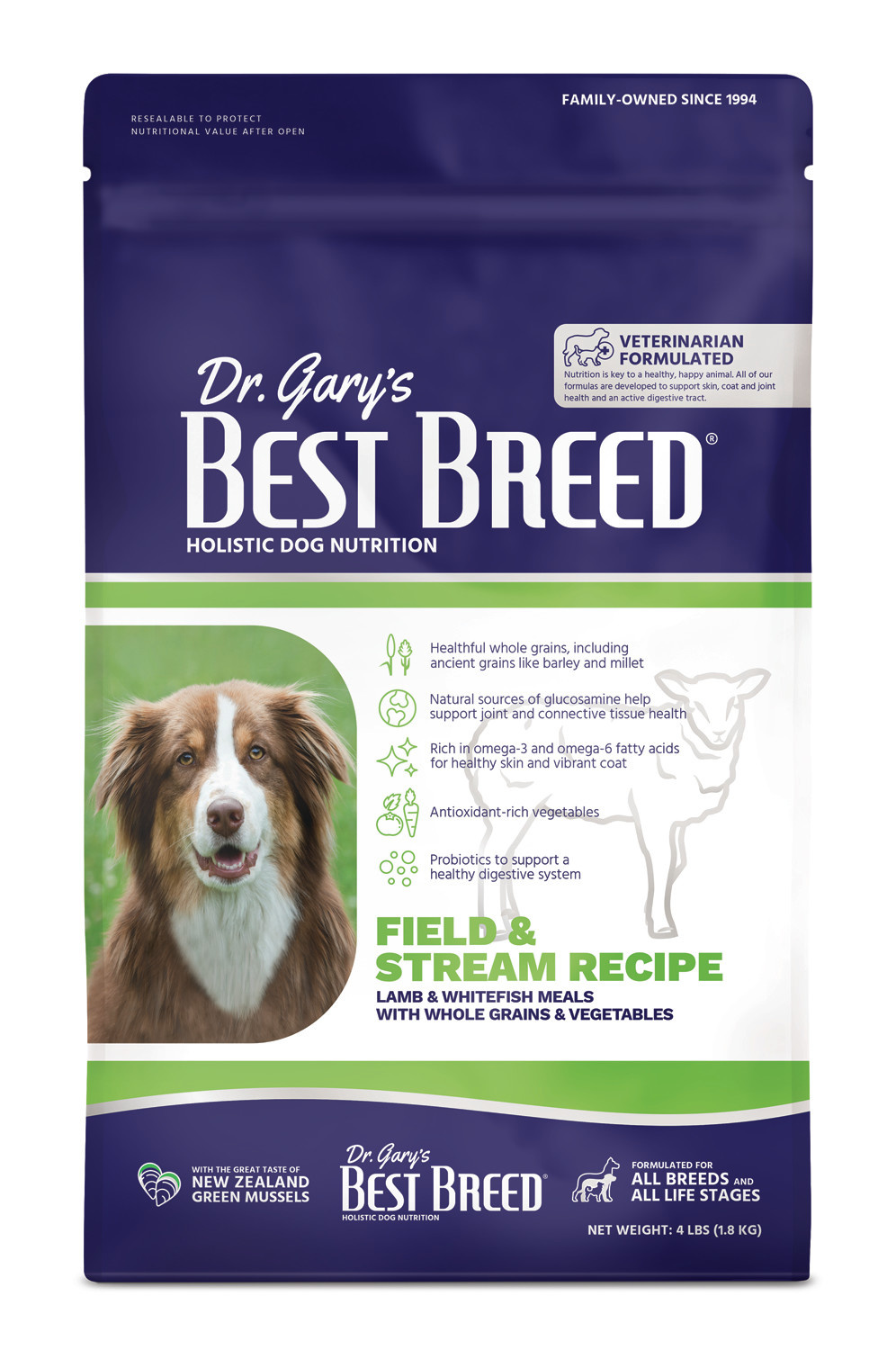 Dr. Gary's Best Breed Dr. Gary's Best Breed  Field & Stream Recipe (Lamb Meal with Fruits & Vegies) 4 lbs