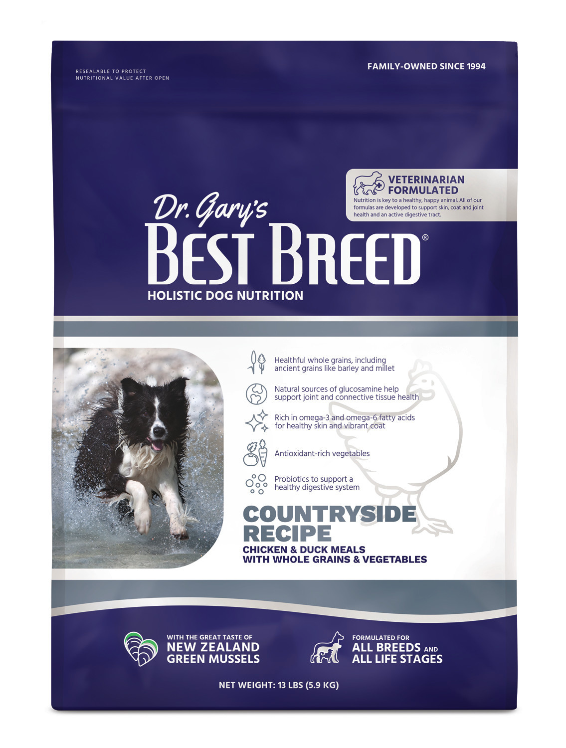 Dr. Gary's Best Breed Dr. Gary's Best Breed Countryside Recipe (Chicken with Vegetables and Herbs)-13 lbs
