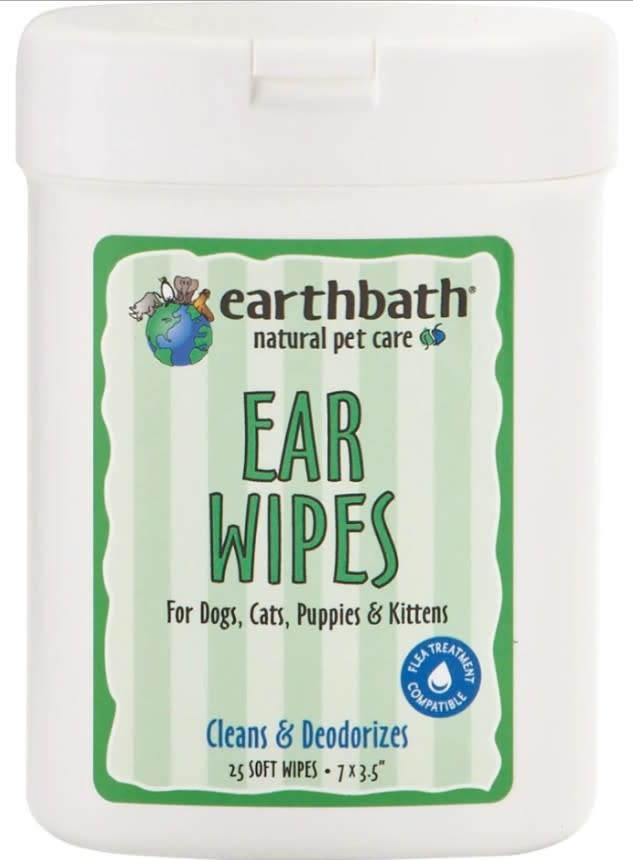 EARTHBATH EAR WIPES, 25ct
