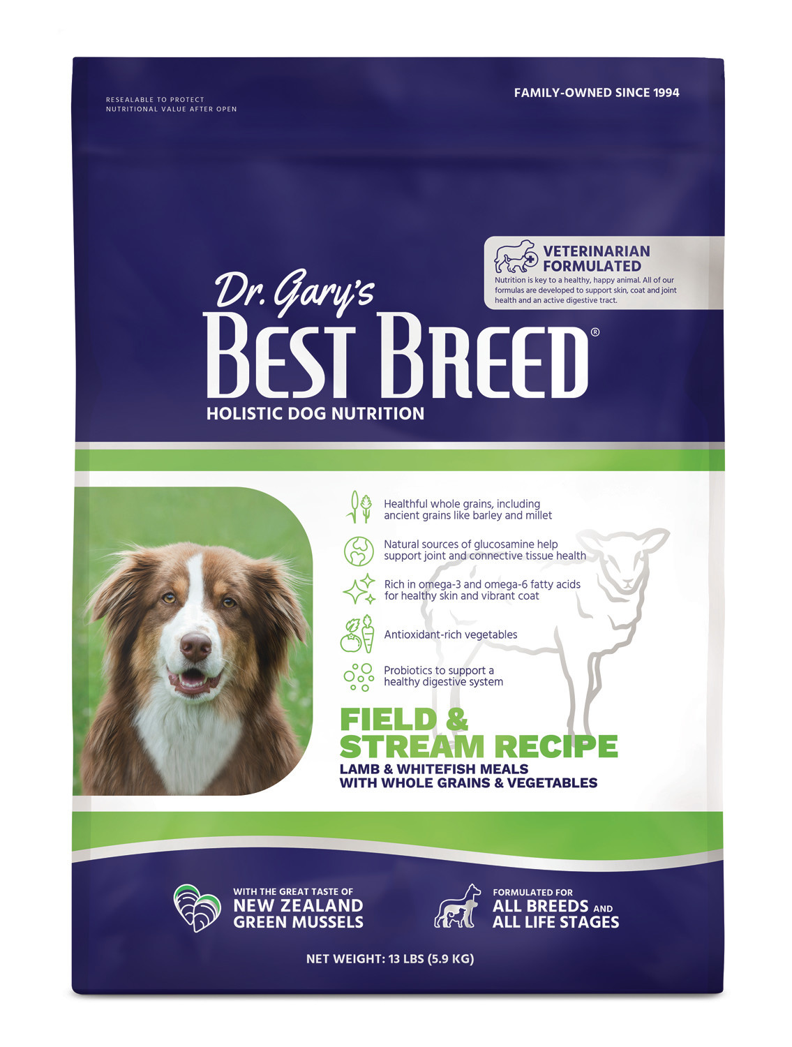 Dr. Gary's Best Breed Dr. Gary's Best Breed  Field & Stream Recipe (Lamb Meal with Fruits & Vegetables)-13 lbs