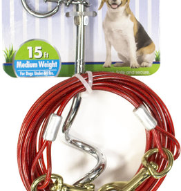 FOUR PAWS WALK-ABOUT COMBO STAKE W/15'CABLE
