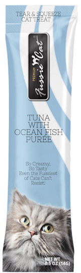 Fussie Cat Puree Treat-TUNA W/ OCEAN FISH