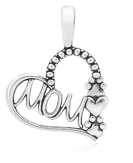 Sterling Silver Pawsome Mom Pendant