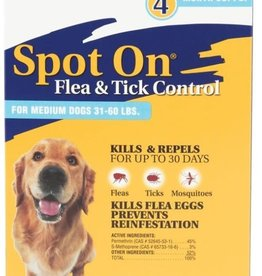 Zodiac Spot On  For Dogs  31-60 lbs,  4-Pack