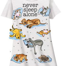 Never Sleep Alone Dog Sleep Shirt