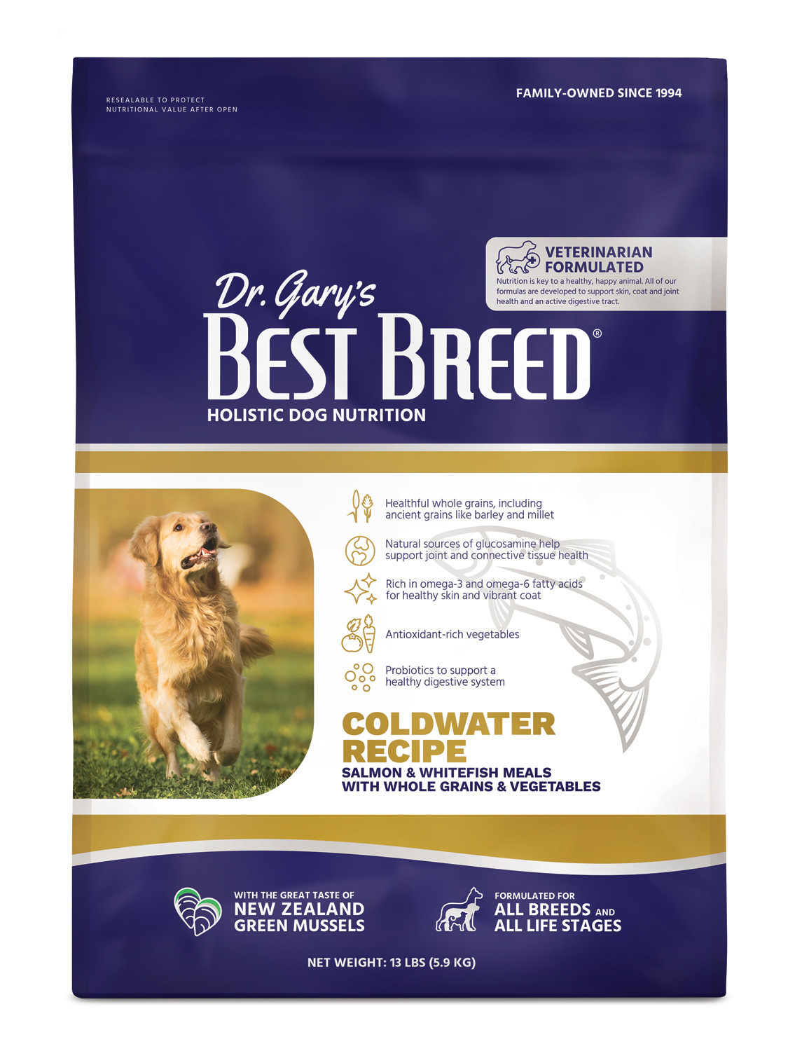 Dr. Gary's Best Breed Dr. Gary's Best Breed Coldwater Recipe-4 lbs