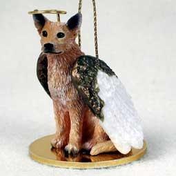 Angel Ornament Australian Cattle Dog-Red