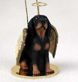 Angel Ornament Black and Tan Coonhound