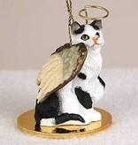 Angel Ornament Cat-Black/White