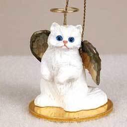 Angel Ornament Cat-White