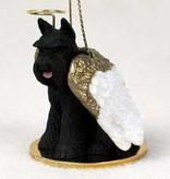 Angel Ornament Schnauzer-Black