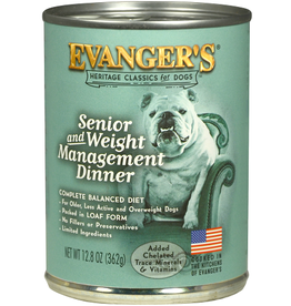 Evangers Can Dog Classic Senior/Wt Mgmt  12 - 13 oz Cans