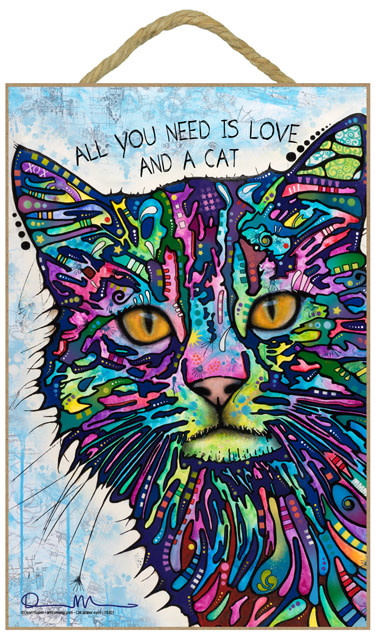 Russo Sign-Cat - All you need is love & a cat