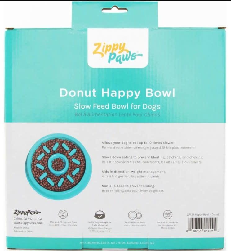 Zippy Paws Donut Slow Bowl, Small