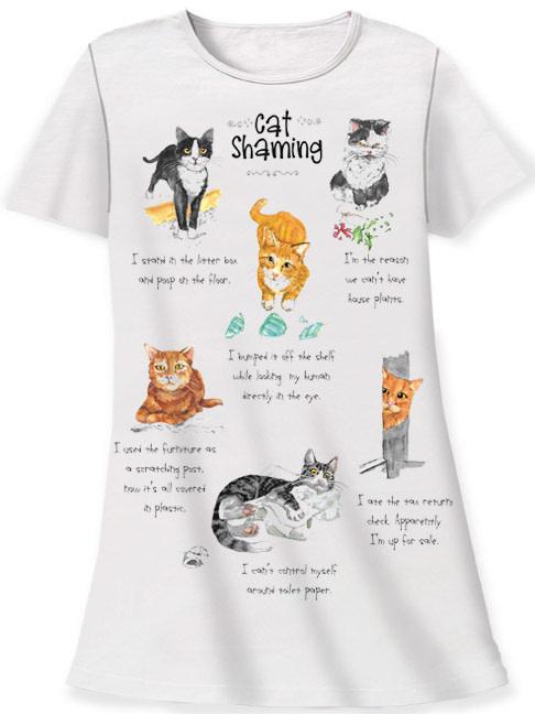 Cat Shaming Sleep Shirt