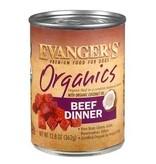 EVANGERS 12.8 OZ DOG CAN ORGANICS BEEF DINNER GF DOG FOOD