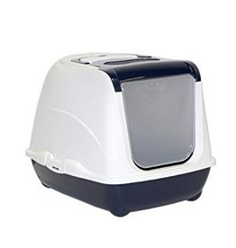 Moderna Flip Cat 19.69 in Closed Litter Box Blue