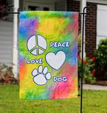 Small Flag - PEACE LOVE DOG GARDEN FLAG