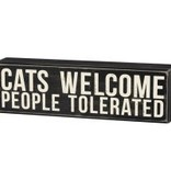 BOX SIGN - CATS WELCOME