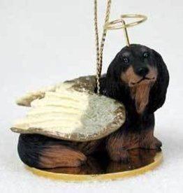 Angel Ornament Dachshund-LH Black