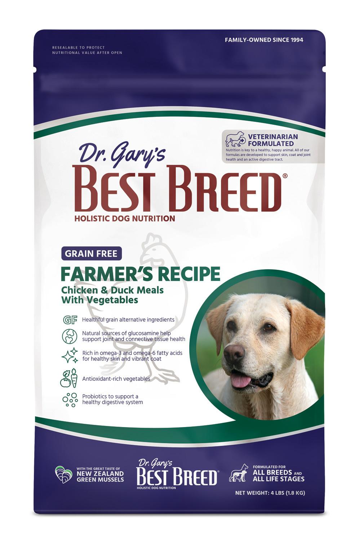 Dr. Gary's Best Breed Dr. Gary's Best Breed Grain Free Farmers Recipe-4 lbs