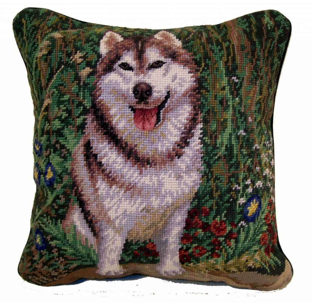 "14"" Pillow -Siberian Husky"