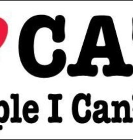 Mag Bumper Sticker -  I Love Cats