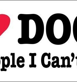 Mag Bumper Sticker -  I Love Dogs