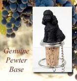 Bottle Topper-Poodle (Black)