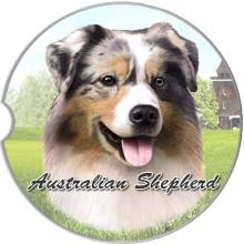 Absorbent Car Coaster - Australian Shepherd