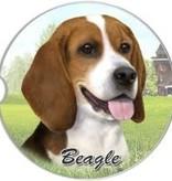 Absorbent Car Coaster - Beagle