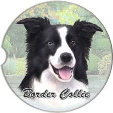 Absorbent Car Coaster - Border Collie