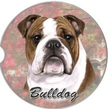 Absorbent Car Coaster - Bulldog
