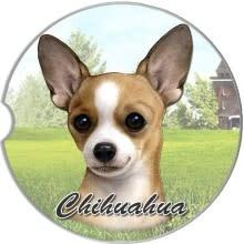 Absorbent Car Coaster - Chihuahua, Tan