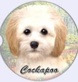 Absorbent Car Coaster - Cockapoo