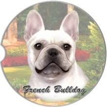 Absorbent Car Coaster - French Bulldog