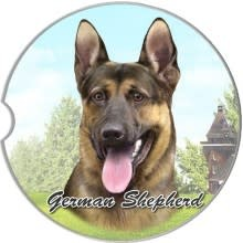 Absorbent Car Coaster - German Shepherd
