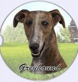 Absorbent Car Coaster - Greyhound